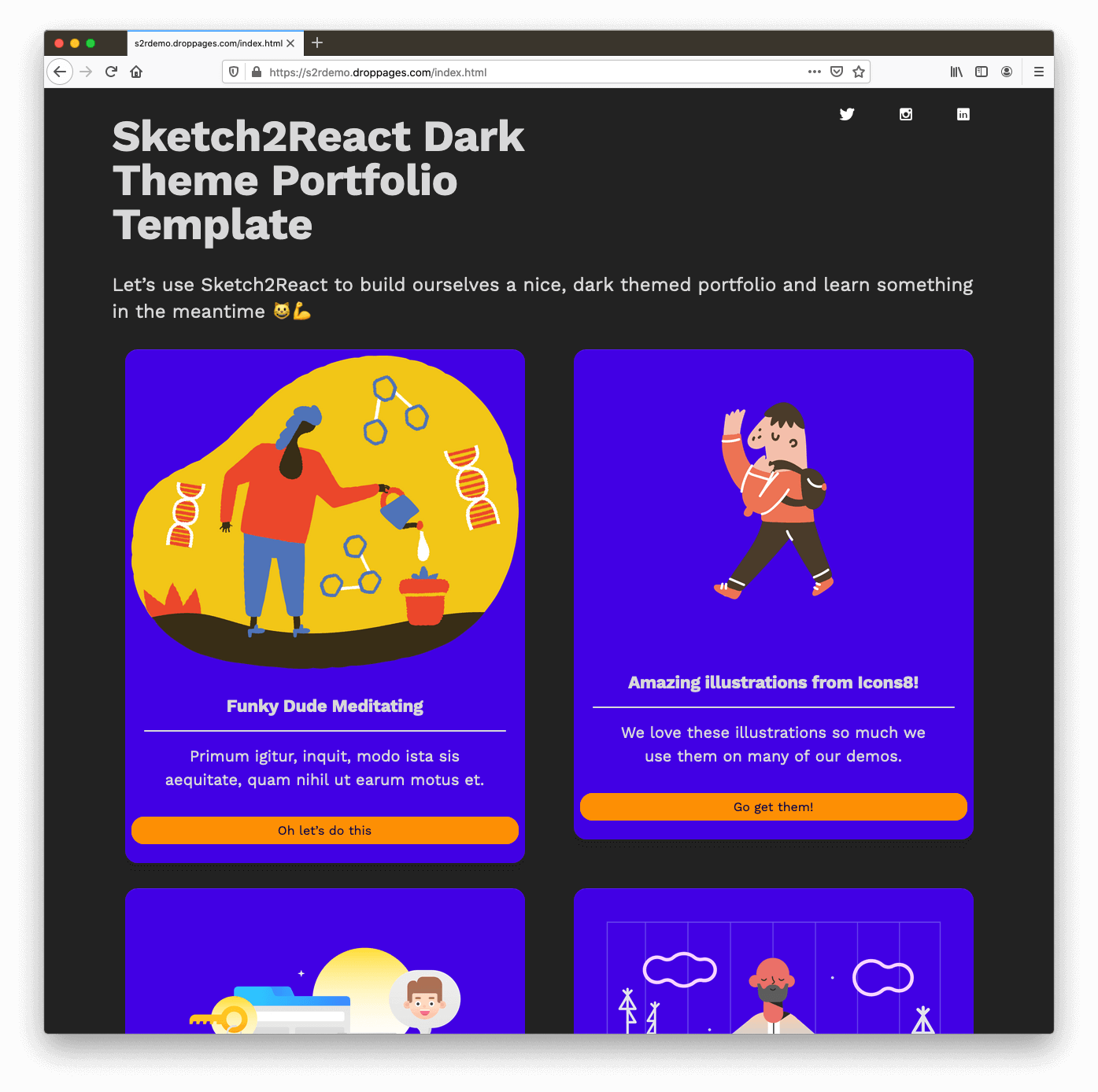 100% made with Sketch using Sketch2React 100% styleable components