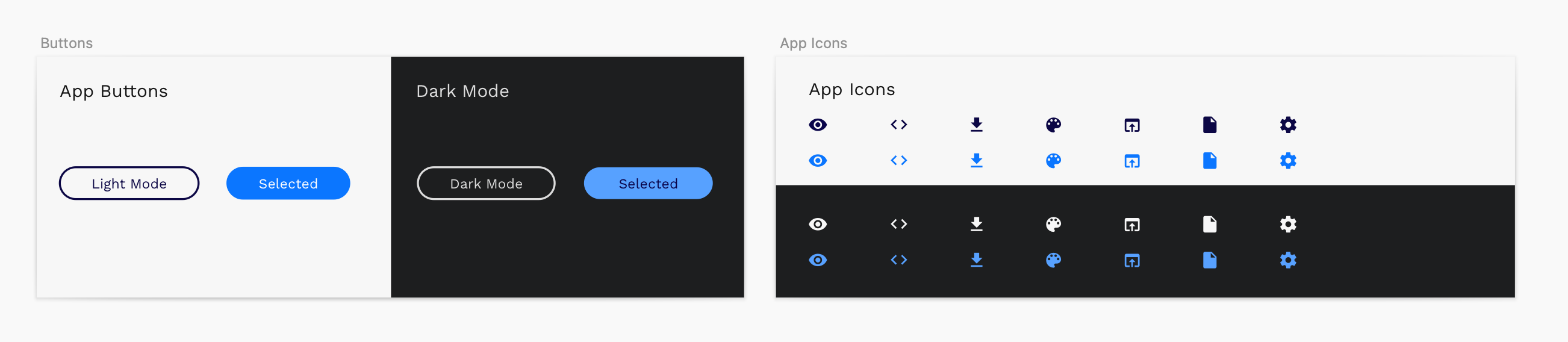 Let's create two new design tokens, two shades of blue